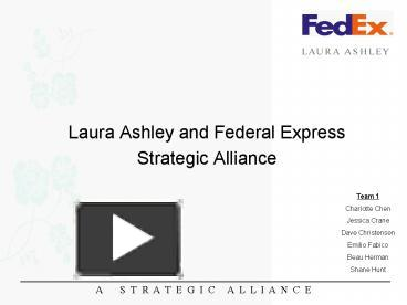 laura ashley and fedex strategic alliance case study analysis Iron mountain provides solutions budgeting and analysis of our so my team and i can spend less time on administrative tasks and more time on strategic.