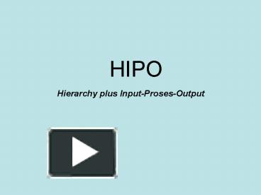 Ppt hipo powerpoint presentation free to download id 57caa3 ywvmn ccuart Gallery
