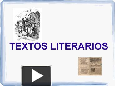 Ppt Textos Literarios Powerpoint Presentation Free To
