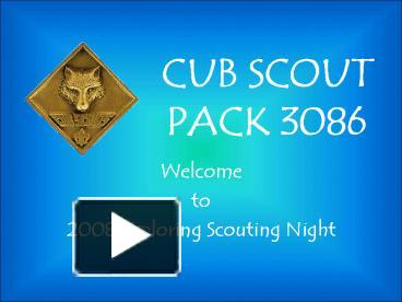 boy scout powerpoint template - ppt cub scout pack 3086 powerpoint presentation free