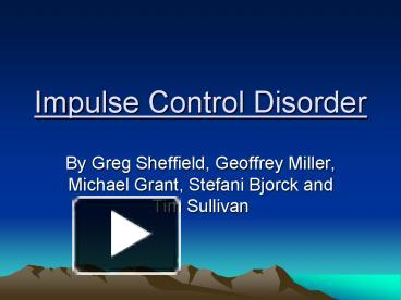 impulse control disorder