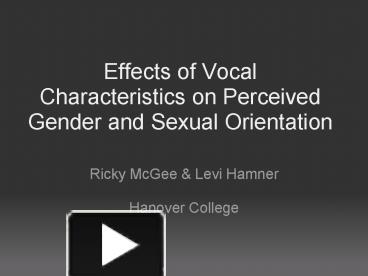 Sex and gender sociology powerpoint