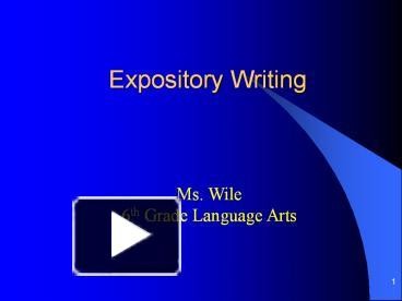 expository writing ppt