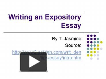 expository essay need to be organized How to write an expository essay expository essays are often assigned in academic settings in an expository essay you need to consider an idea, investigate the idea, explain the idea, and then make an argument.