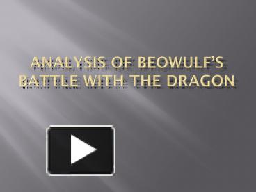 analysis of beowulf