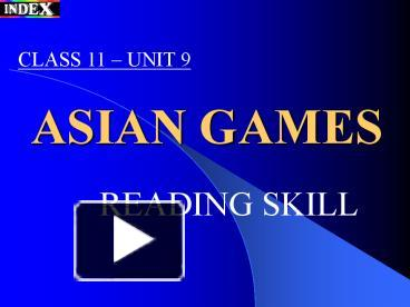 Ppt Asian Games Powerpoint Presentation Free To View