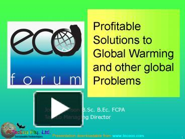 a research on the condition global warming
