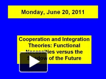 an overview of the topic of the integration theory Start studying cognitive learn of annie treisman's feature-integration theory course of the class's accuracy on test items for that topic.
