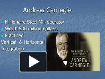 Ppt Andrew Carnegie Powerpoint Presentation Free To Download