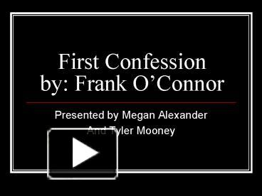 frank o connor first confession