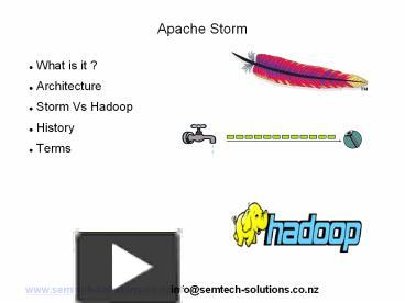 PPT – An introduction to Apache Storm PowerPoint