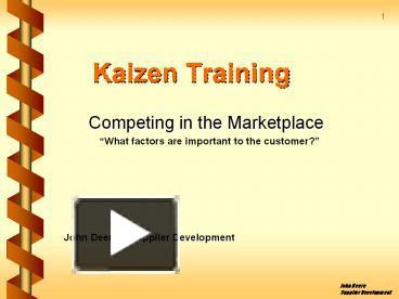PPT – Kaizen Training PowerPoint presentation   free to download