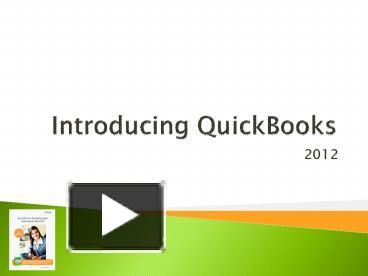 Ppt Introducing Quickbooks Powerpoint Presentation Free To