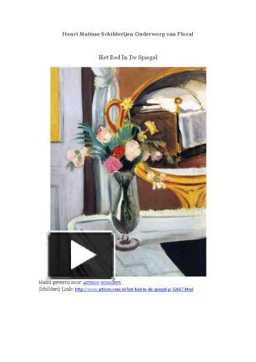 Wonderbaar PPT – Henri Matisse Schilderijen Onderwerp van Floral -- Artisoo IH-55