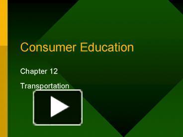 consumer education