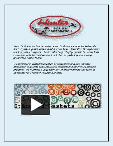 PPT – Gasket Manufacturers (1) PowerPoint presentation