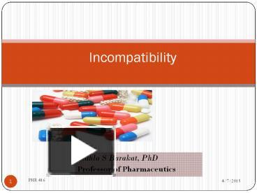 PPT – Incompatibility PowerPoint presentation | free to view - id