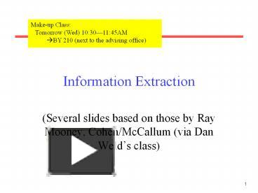 Ppt Information 20extraction Powerpoint Presentation Free To
