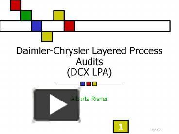 PPT Daimler Chrysler Layered Process Audits DCX LPA PowerPoint Presentation
