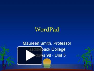 ppt wordpad powerpoint presentation free to download id
