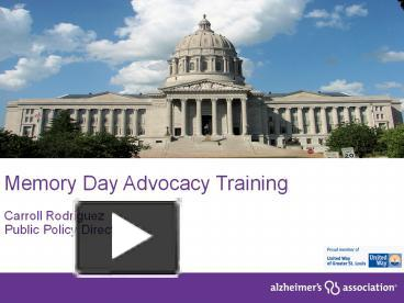 PPT – Memory Day Advocacy Training PowerPoint presentation