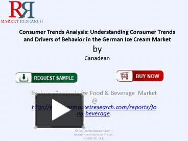 consumer buying behaviour of icecream Ice cream shops are also beginning to make more ice cream on site rather than buying it once the consumer has entered the ice cream among ice cream parlors.