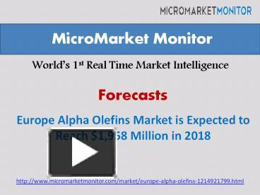 alpha olefin market expected 4 6 million Research and markets has announced the addition of the alpha olefin market by type 42% annually to reach 46 million 5 alpha olefins market, by type 6.