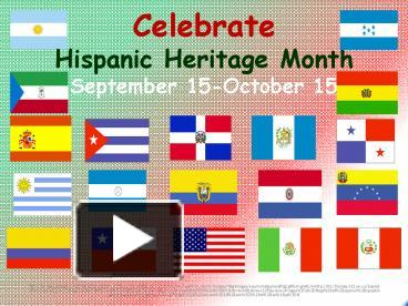 ppt celebrate hispanic heritage month september 15october 15 powerpoint presentation free to view id 6953 ntgwo