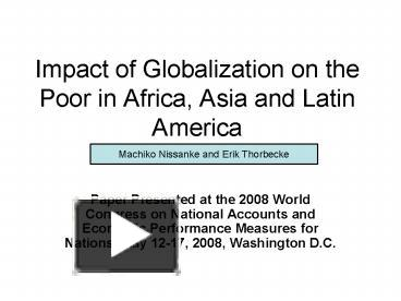 impact of globalisation in africa