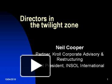 Ppt directors in the twilight zone powerpoint presentation free ppt directors in the twilight zone powerpoint presentation free to download id 6c287e zjg0n toneelgroepblik Choice Image