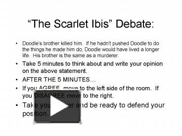 the scarlet ibis literary analysis