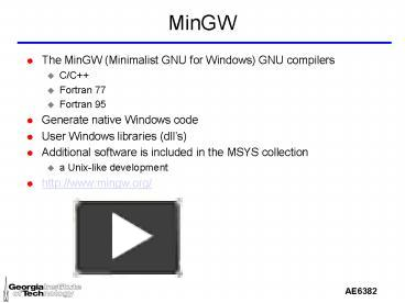 PPT – MinGW PowerPoint presentation | free to view - id
