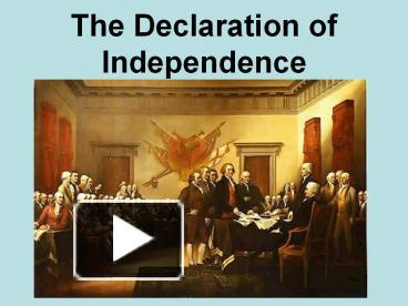 throughout the declaration of independe
