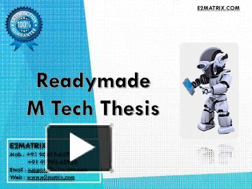m tech thesis