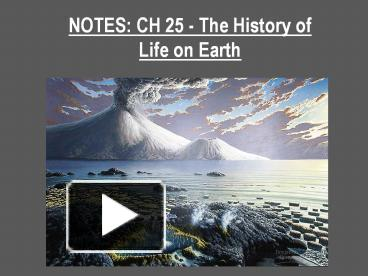 the history of life on earth Start studying history of life on earth learn vocabulary, terms, and more with flashcards, games, and other study tools.