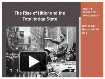 rise of nazi totalitarianism