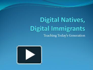 digital nation analysis