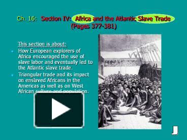 a discussion of the age old problem of slavery and its impact The demise of slavery the authors of the constitution put off a solution to the problem of slavery to a and slavery moved together into the old.