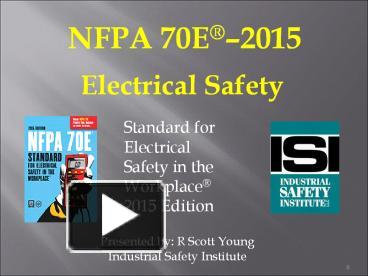 PPT – NFPA 70E PowerPoint presentation | free to download