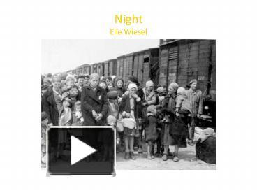 elie wiesel s night journal entry