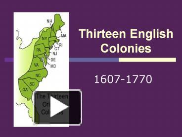 what were the 4 groups of english colonies in what is today the usa The people of the united states are as diverse today as they were as a collection of colonies in the seventeenth century the ways they worshiped, governed, made a living, and lived their lives continues to influence the way we do those same things today.