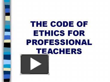 Saskatchewan Teacher S Code Of Professional Ethics