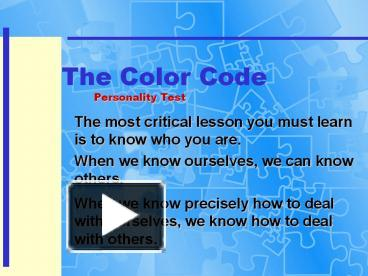 Ppt The Color Code Personality Test Powerpoint Presentation Free To Download Id 70b5c2 Nju5n,Abandoned Town For Sale Australia