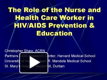 the role of a health and