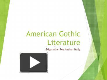 american gothic lit