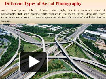 PPT – Different Types of Aerial Photography PowerPoint