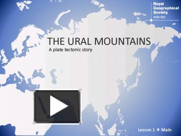 PPT – The Ural mountains PowerPoint presentation | free to ...