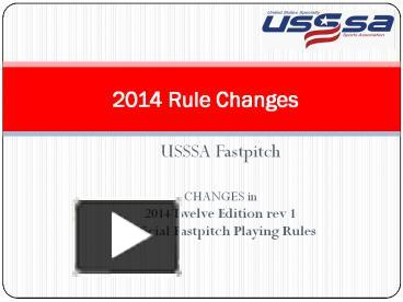 PPT – USSSA Fastpitch PowerPoint presentation | free to