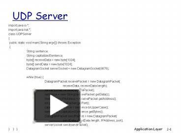 PPT – UDP Server PowerPoint presentation | free to download