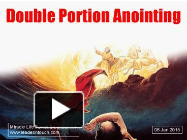 PPT – Double Portion Anointing PowerPoint presentation | free to